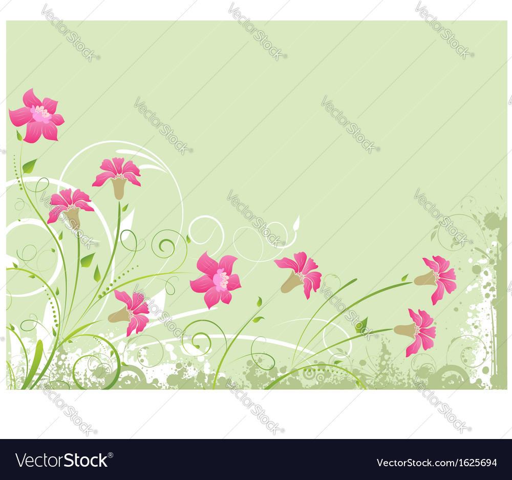 Floral green background vector | Price: 1 Credit (USD $1)