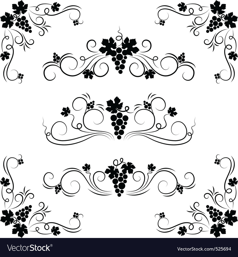 Grape design elements vector | Price: 1 Credit (USD $1)