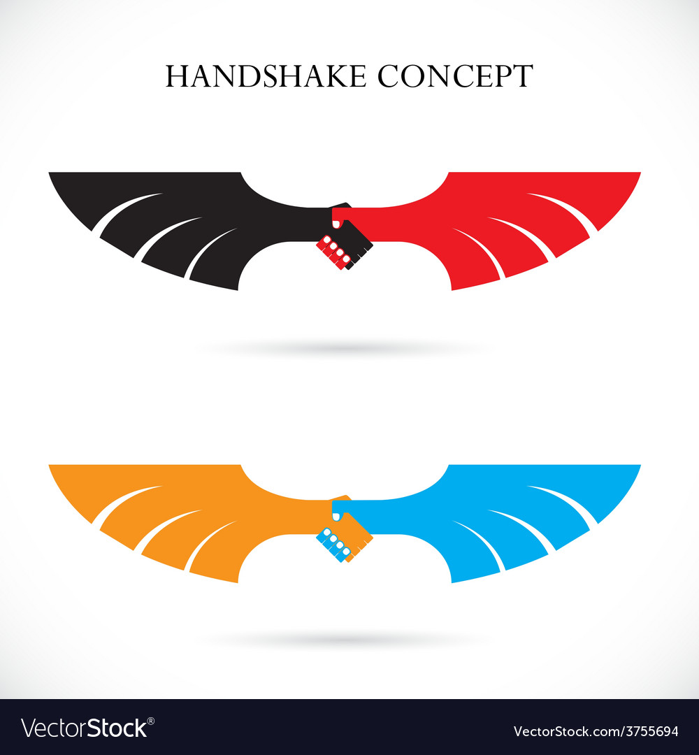 Handshake abstract design concept template vector | Price: 1 Credit (USD $1)