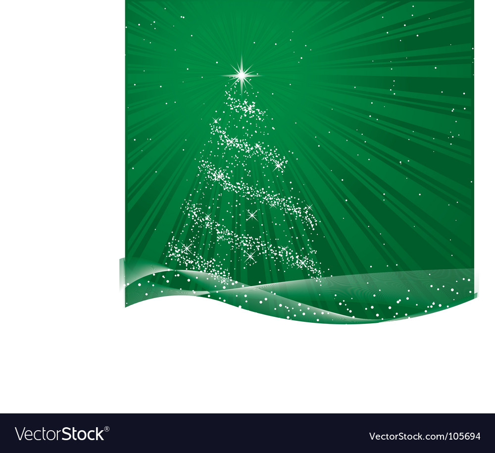 Shiny green christmas tree vector | Price: 1 Credit (USD $1)
