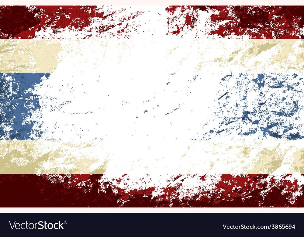 Thai flag grunge background vector