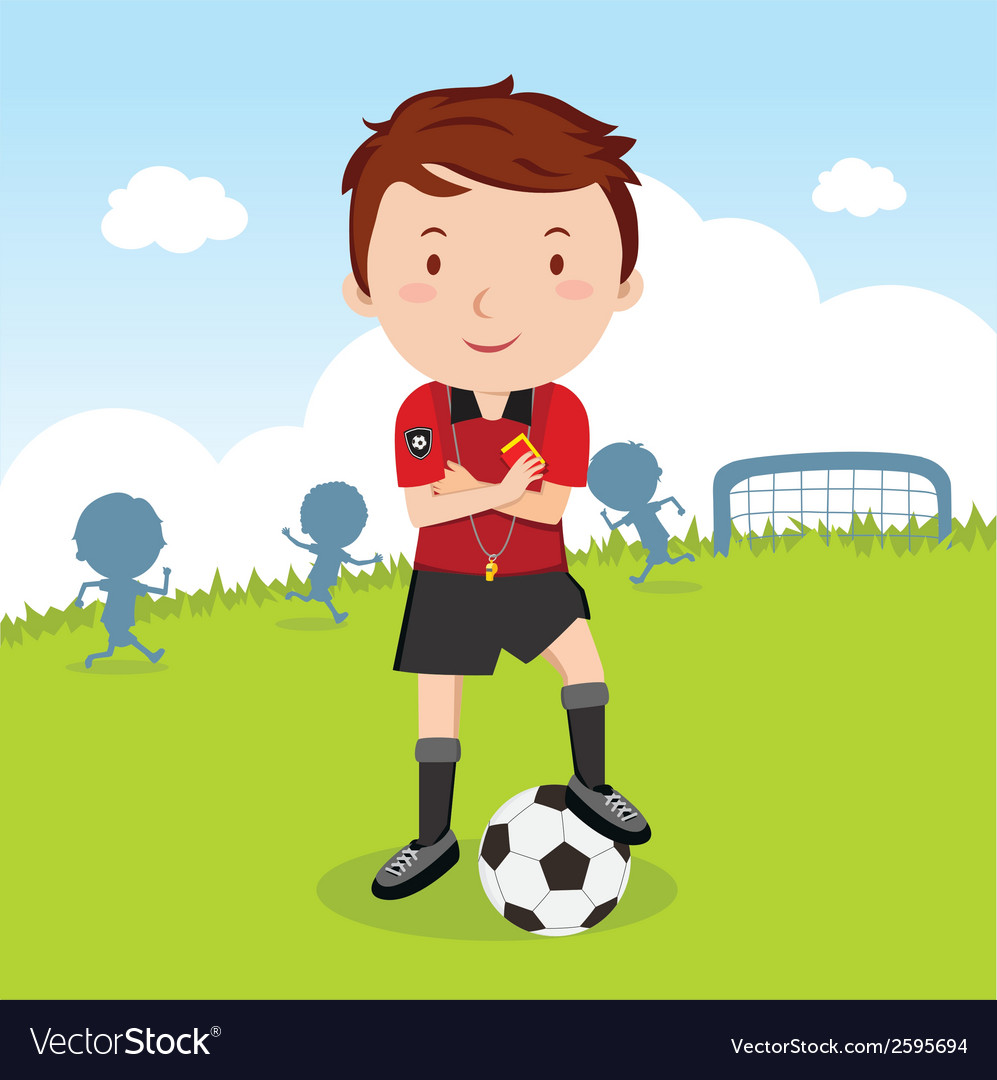 Umpire soccer vector | Price: 1 Credit (USD $1)