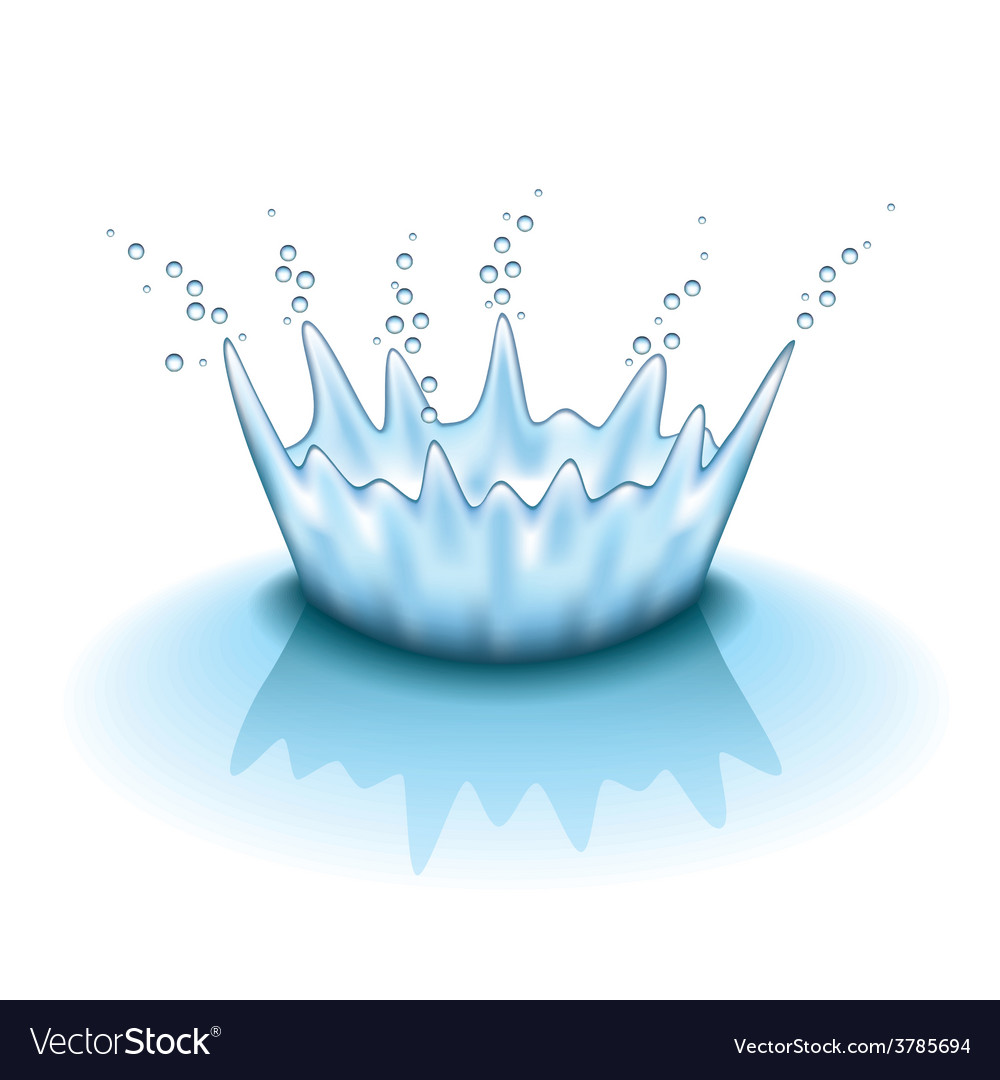 Water splashing isolated vector | Price: 3 Credit (USD $3)