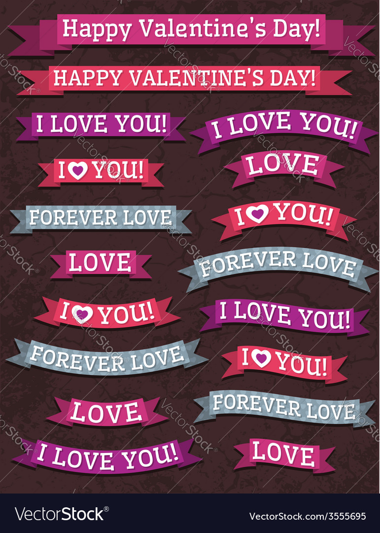 A set of valentines design vector | Price: 1 Credit (USD $1)