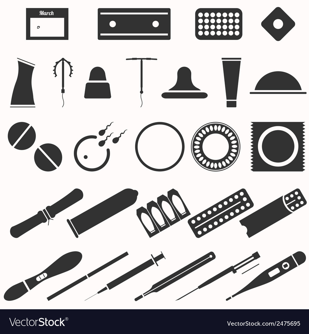 All modern types and contraception methods vector | Price: 1 Credit (USD $1)