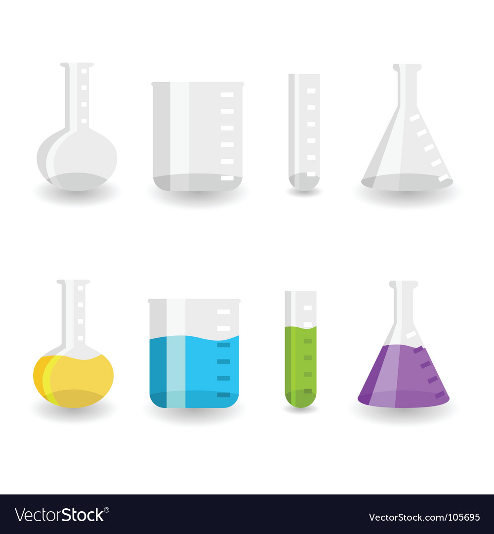 Chemistry beakers vector | Price: 1 Credit (USD $1)