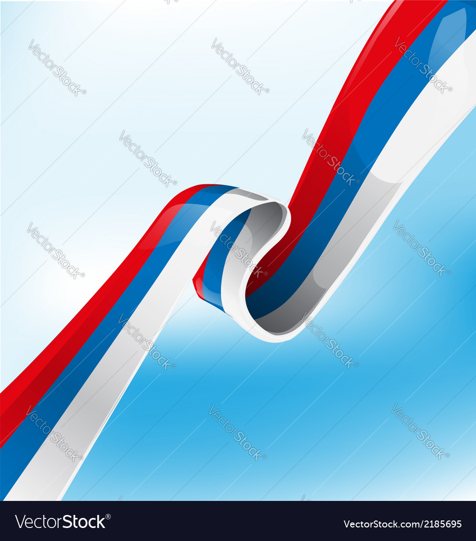 Russian ribbon flag vector | Price: 1 Credit (USD $1)