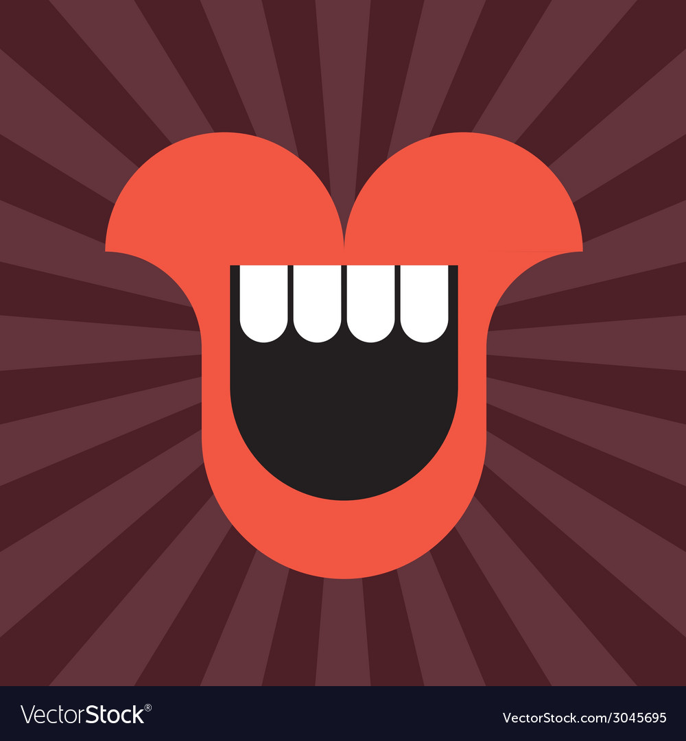 Smiling mouth vector | Price: 1 Credit (USD $1)