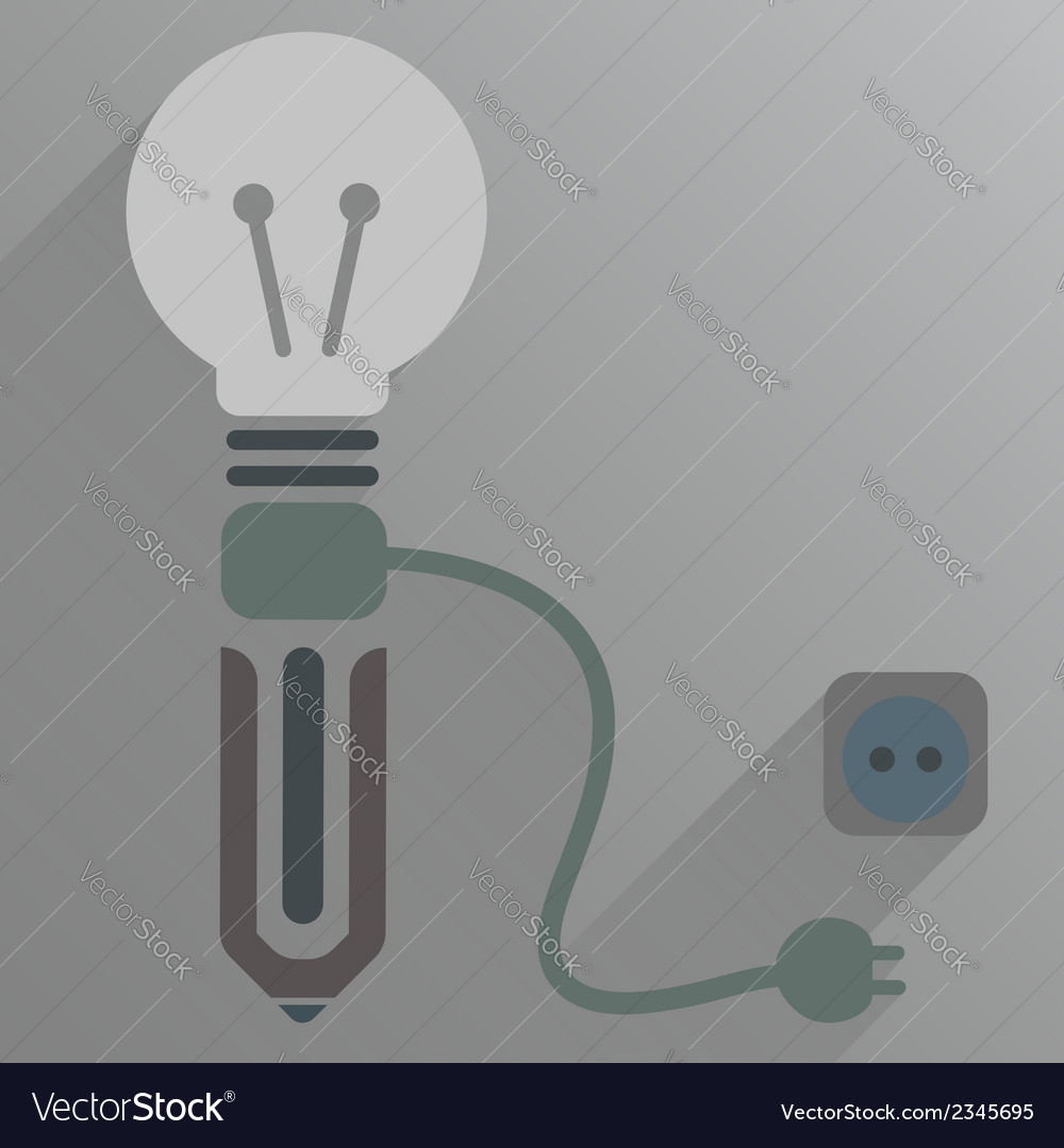 Turn off pen thought vector | Price: 1 Credit (USD $1)