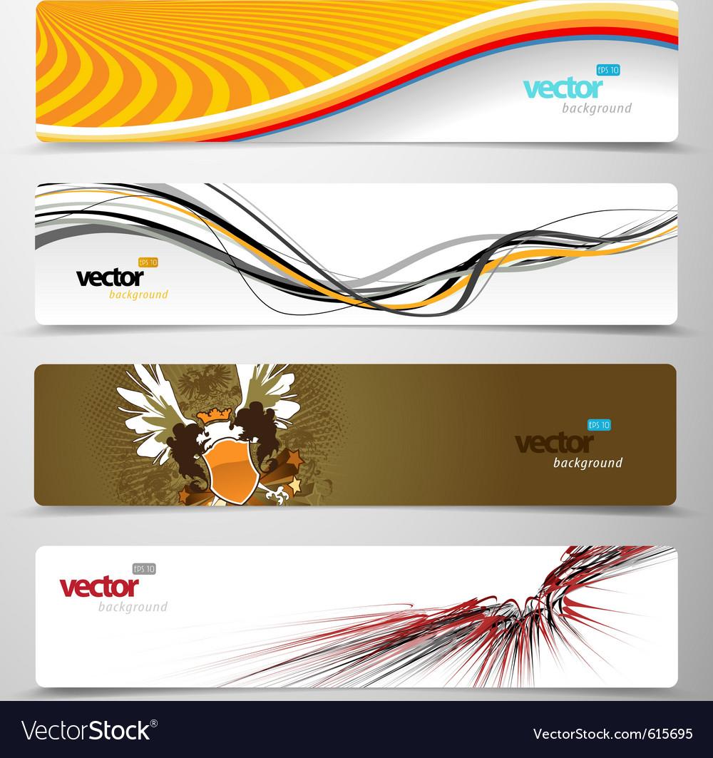 Web headers vector | Price: 1 Credit (USD $1)