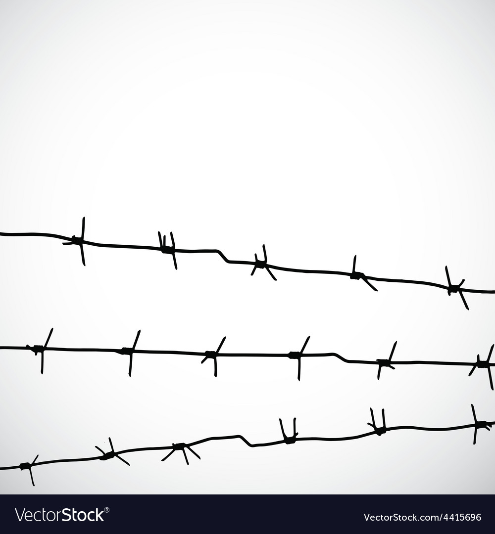 Barbed wire silhouettes vector | Price: 1 Credit (USD $1)