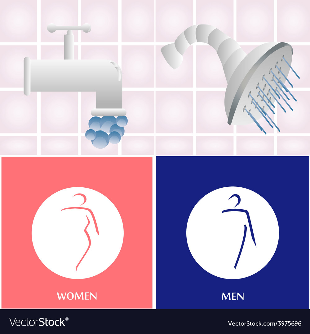 Bathroom elements vector | Price: 1 Credit (USD $1)