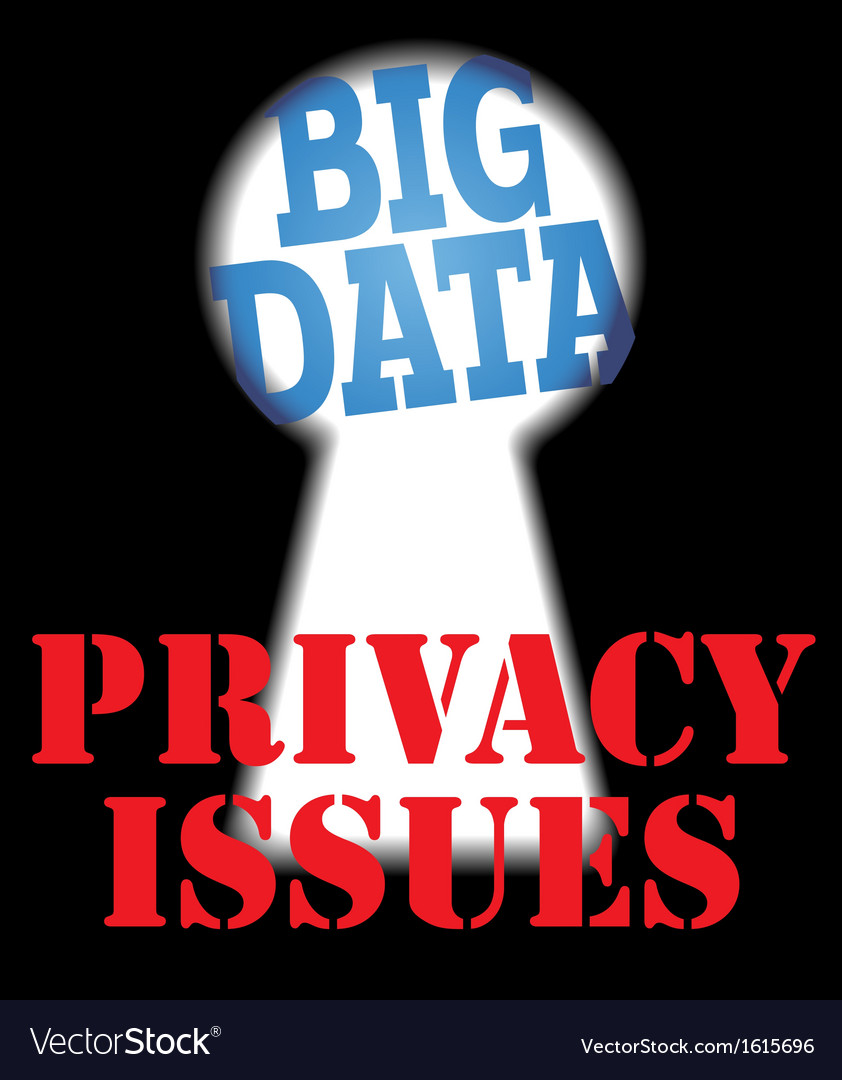Big data privacy security it issues vector | Price: 1 Credit (USD $1)