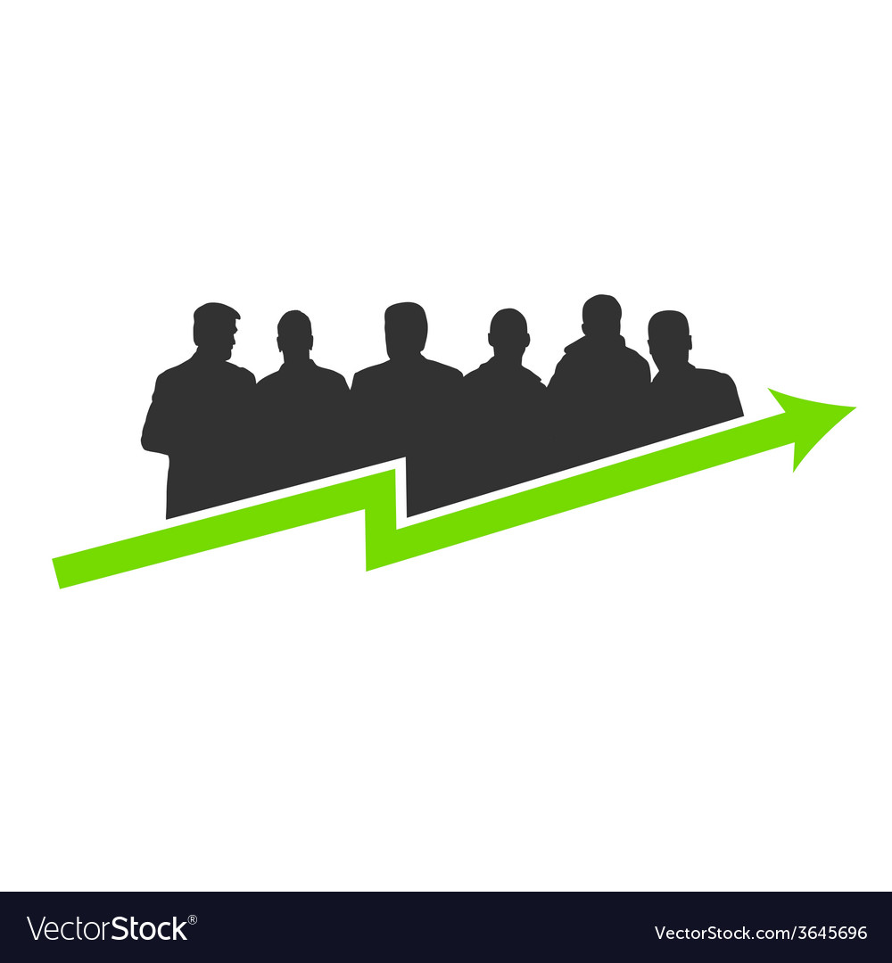 Business success green vector | Price: 1 Credit (USD $1)