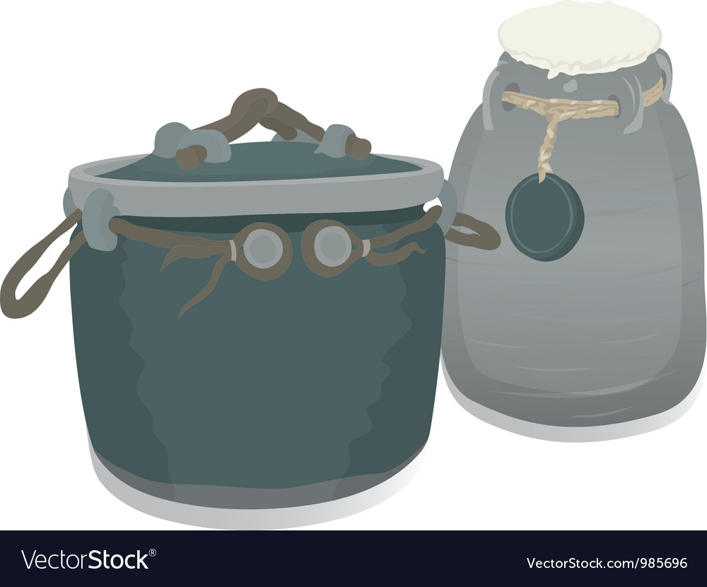 Clay pots vector | Price: 1 Credit (USD $1)