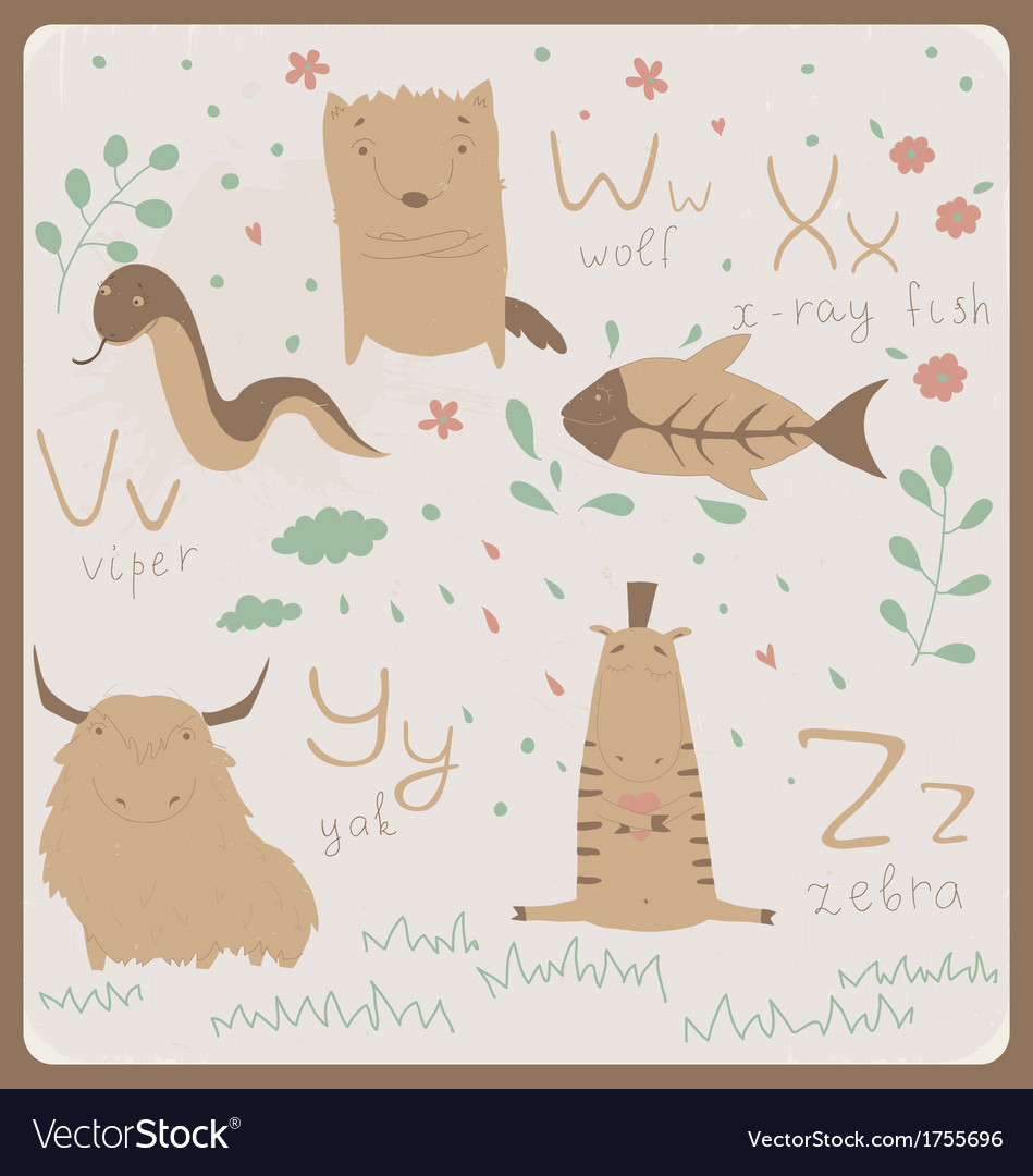Cute zoo alphabet vector | Price: 1 Credit (USD $1)