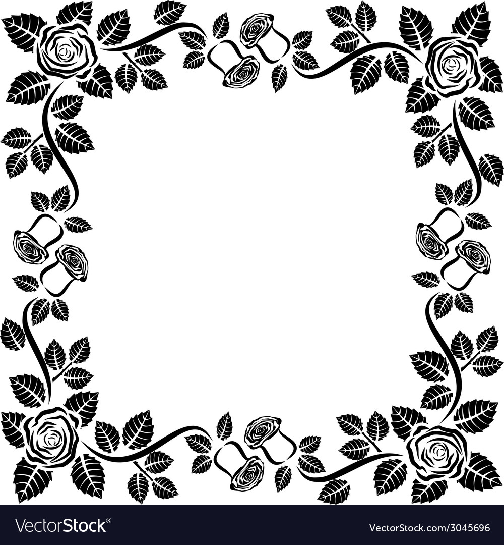 Frame roses vector | Price: 1 Credit (USD $1)