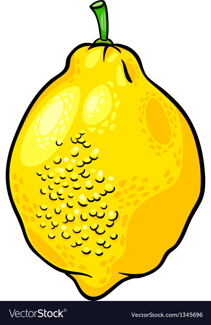 Lemon citrus fruit cartoon vector | Price: 1 Credit (USD $1)