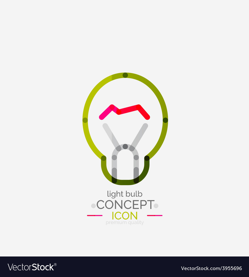 Light bulb minimal design logo vector | Price: 1 Credit (USD $1)