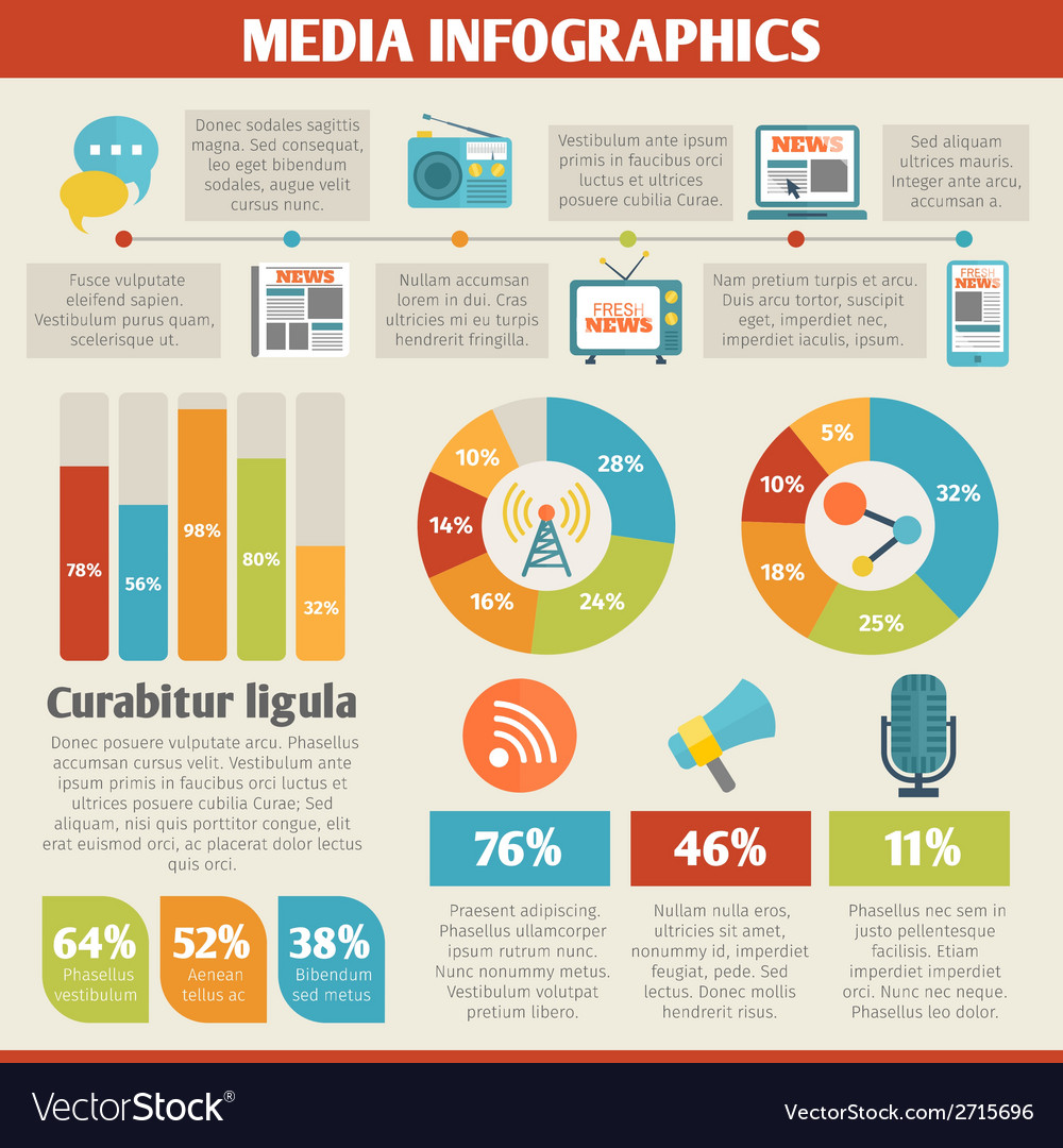 Media infographics vector | Price: 1 Credit (USD $1)