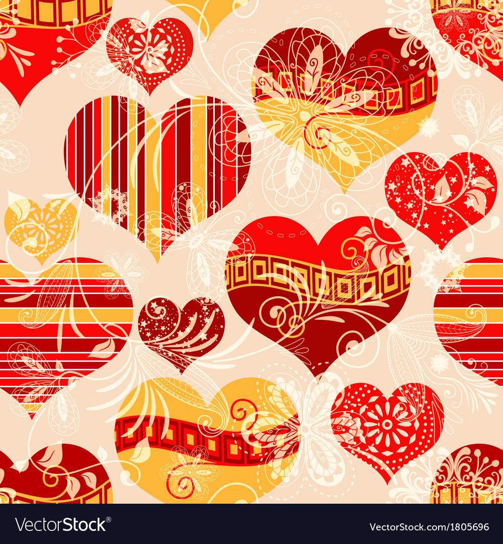 Pink seamless valentine pattern vector | Price: 1 Credit (USD $1)