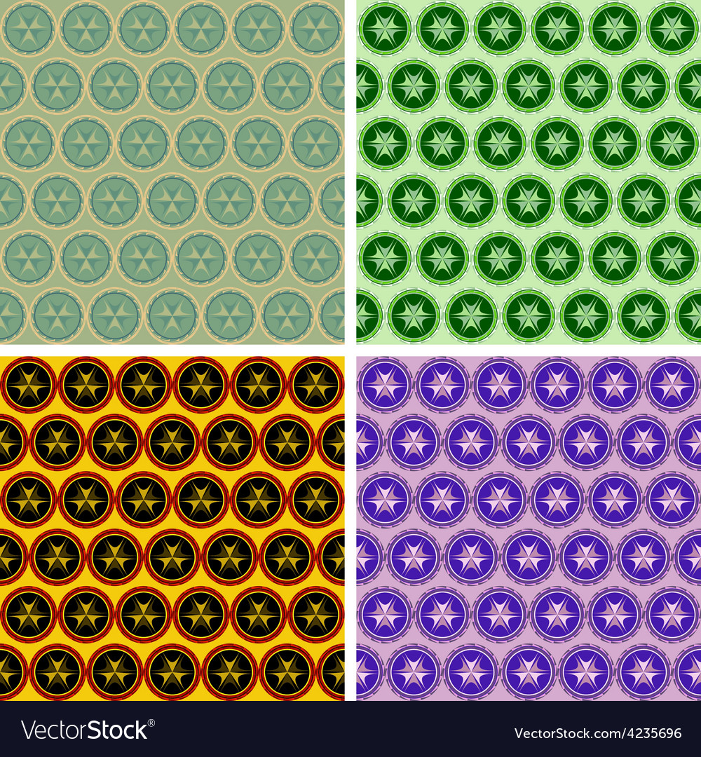 Seamless abstract geometrical art pattern set vector | Price: 1 Credit (USD $1)