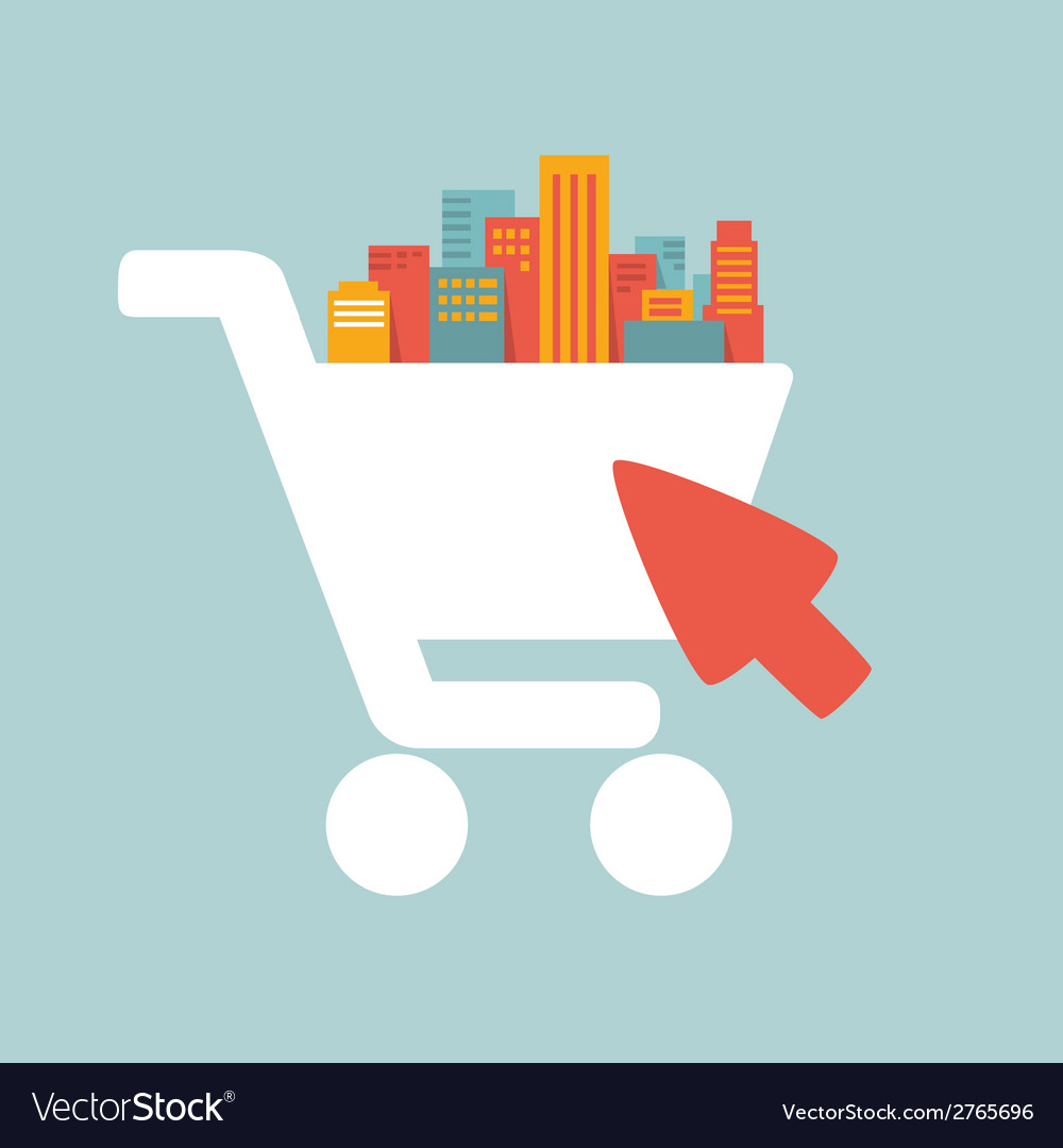 Shopping in the big city vector | Price: 1 Credit (USD $1)