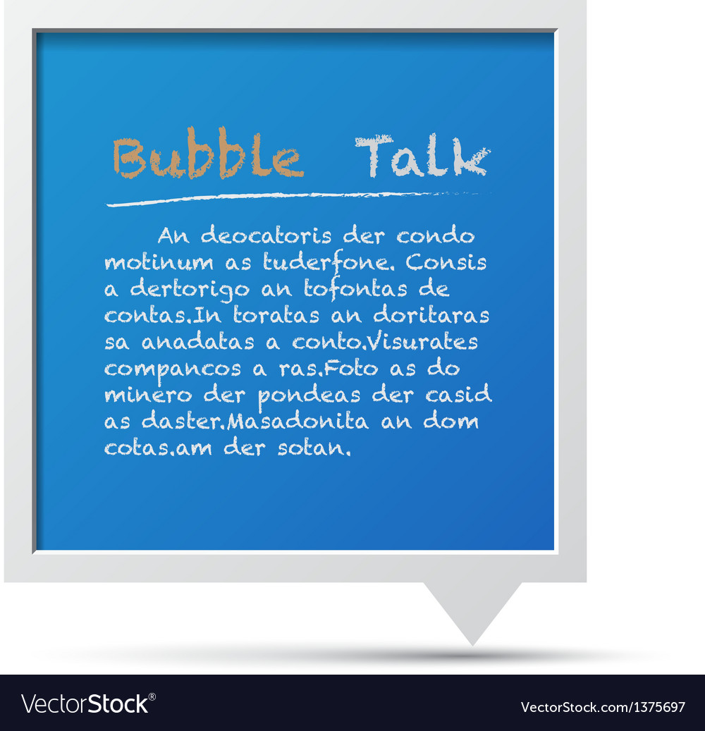 3d bubble talk blackboard design element eps10 vector | Price: 1 Credit (USD $1)