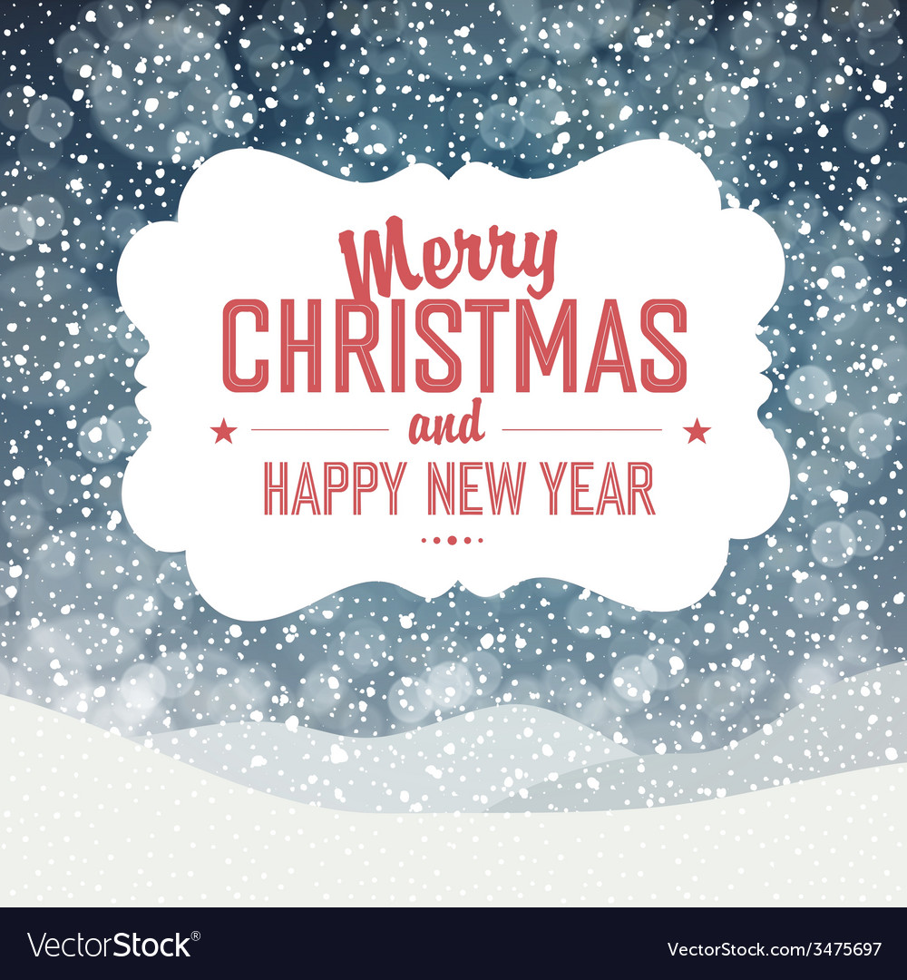 Christmas card design falling snow vector | Price: 1 Credit (USD $1)