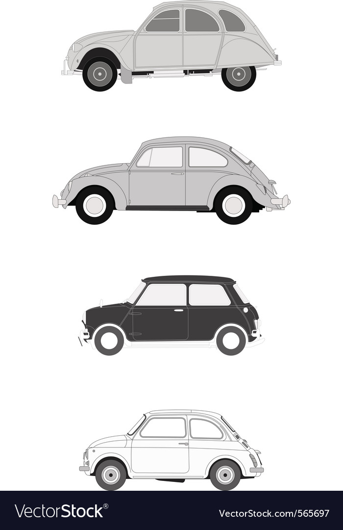 Classics european cars vector | Price: 1 Credit (USD $1)