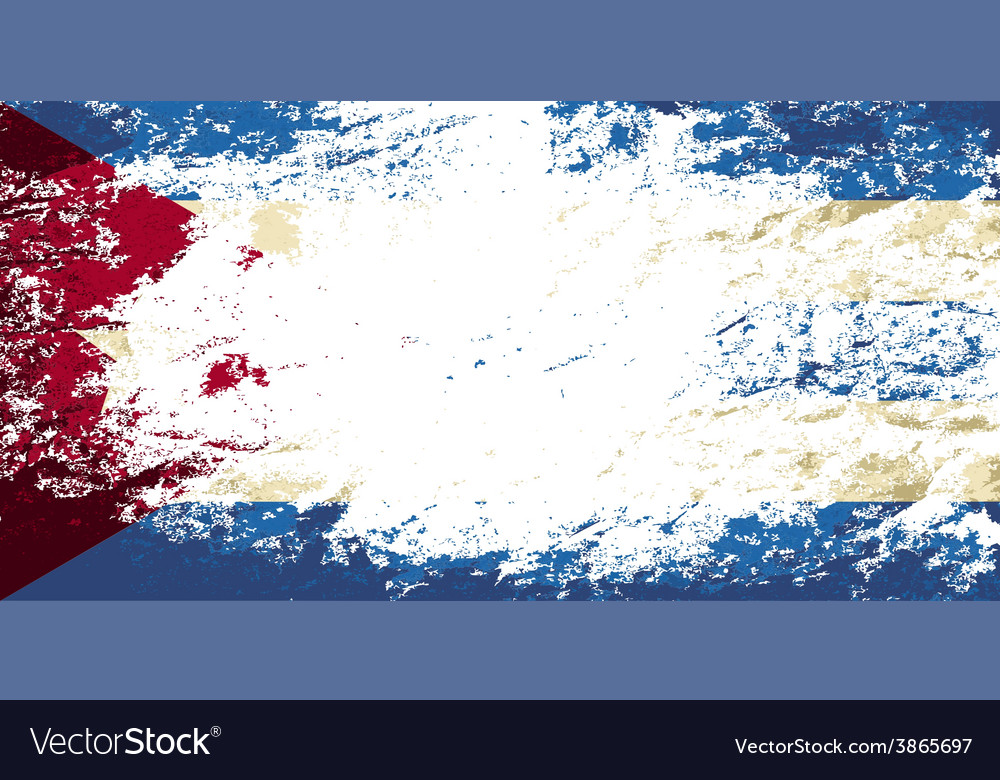 Cuban flag grunge background vector | Price: 1 Credit (USD $1)