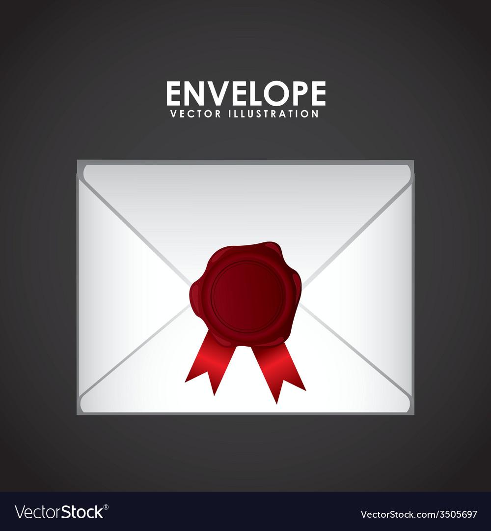 Envelope seal design vector | Price: 1 Credit (USD $1)