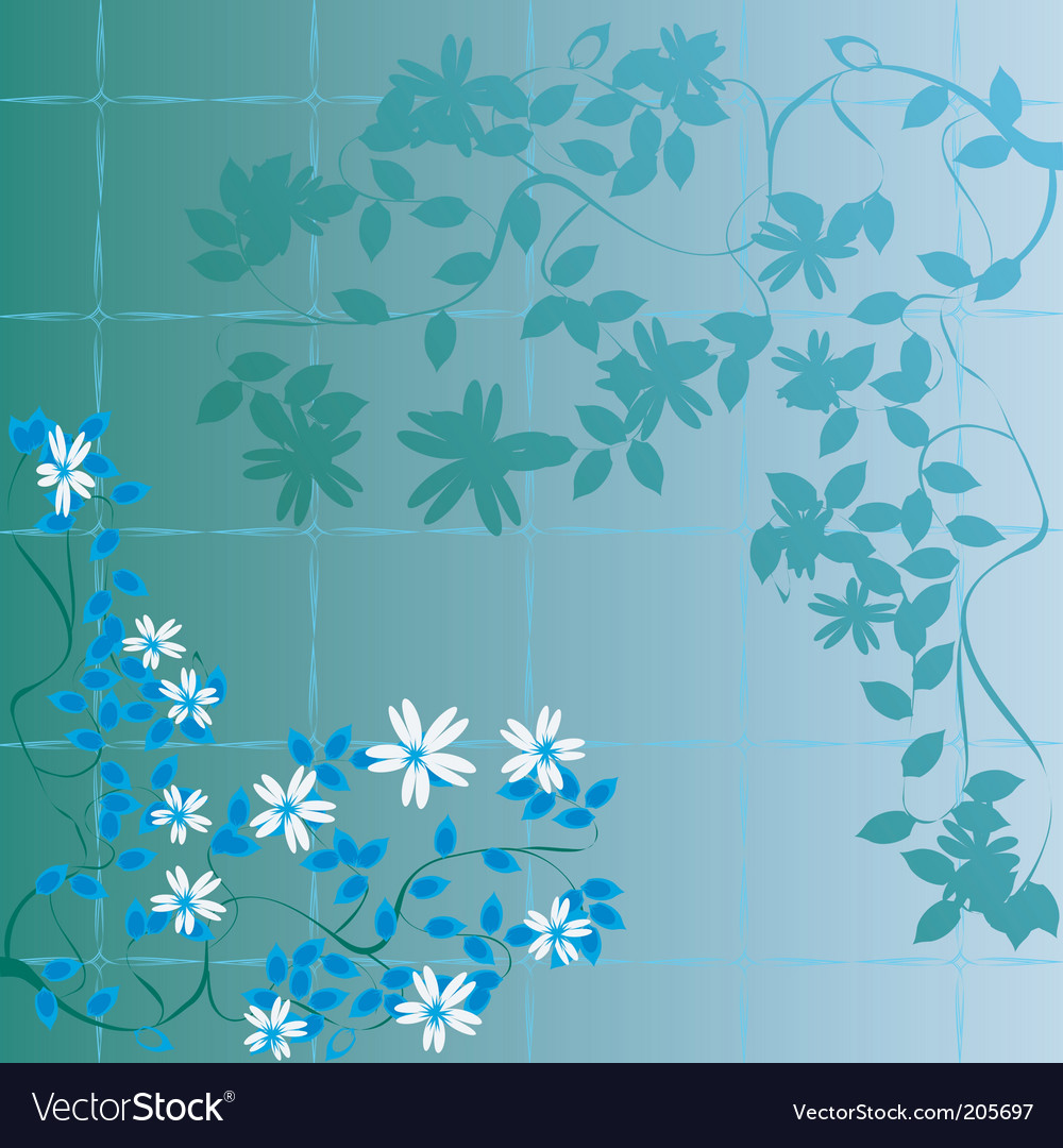 Floral abstract foliage vector | Price: 1 Credit (USD $1)