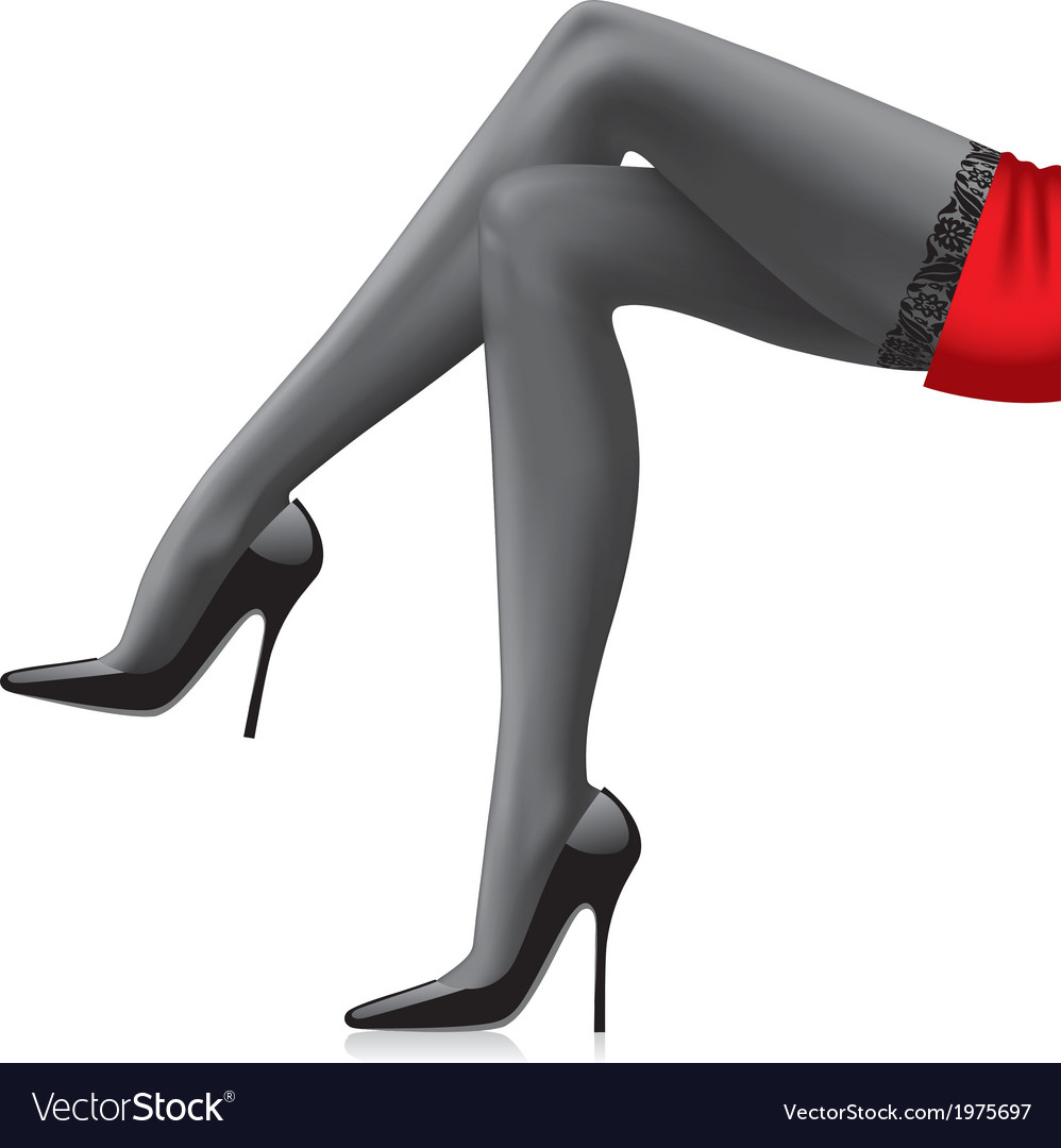Legs of girl vector | Price: 1 Credit (USD $1)