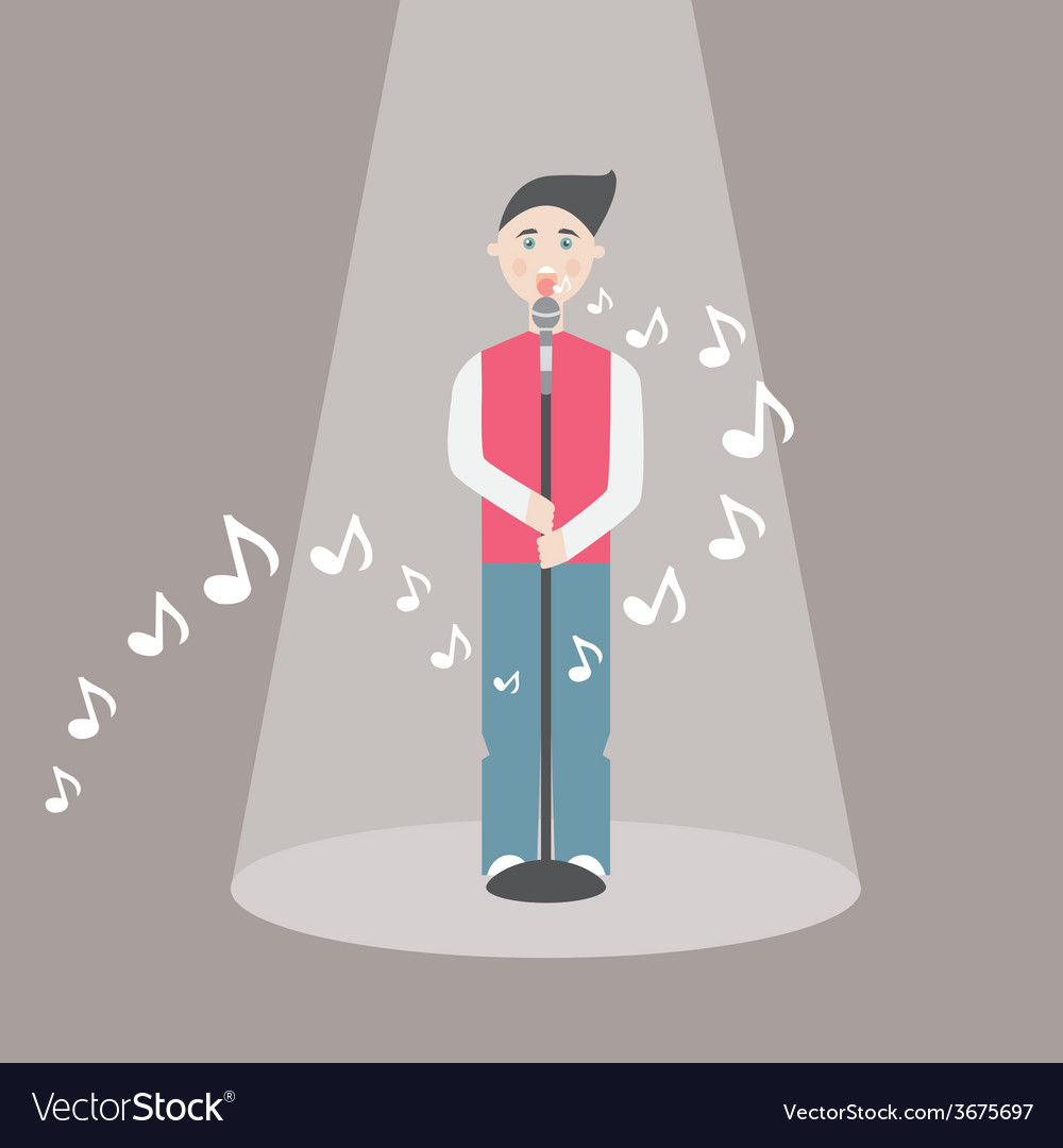 Male singer - eps10 vector | Price: 1 Credit (USD $1)