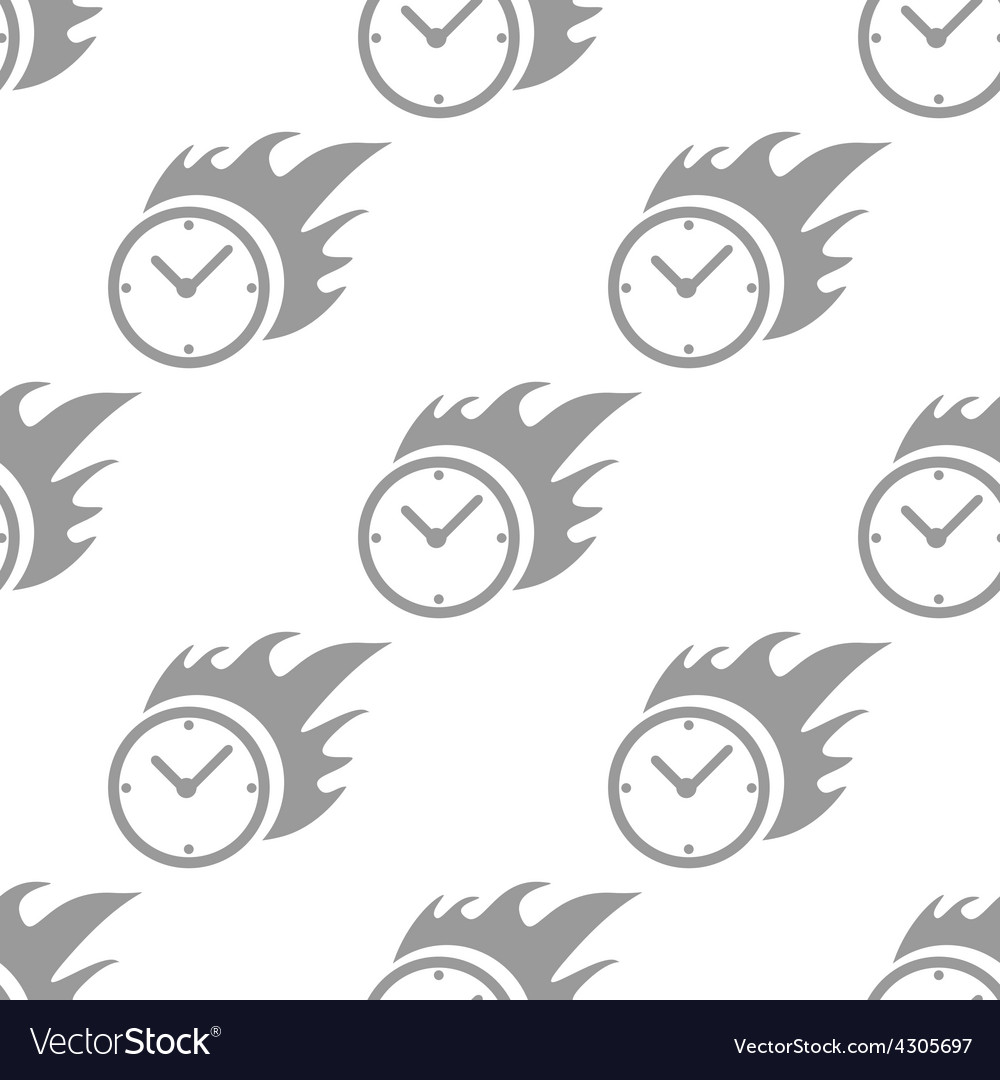 New hot clock seamless pattern vector | Price: 1 Credit (USD $1)