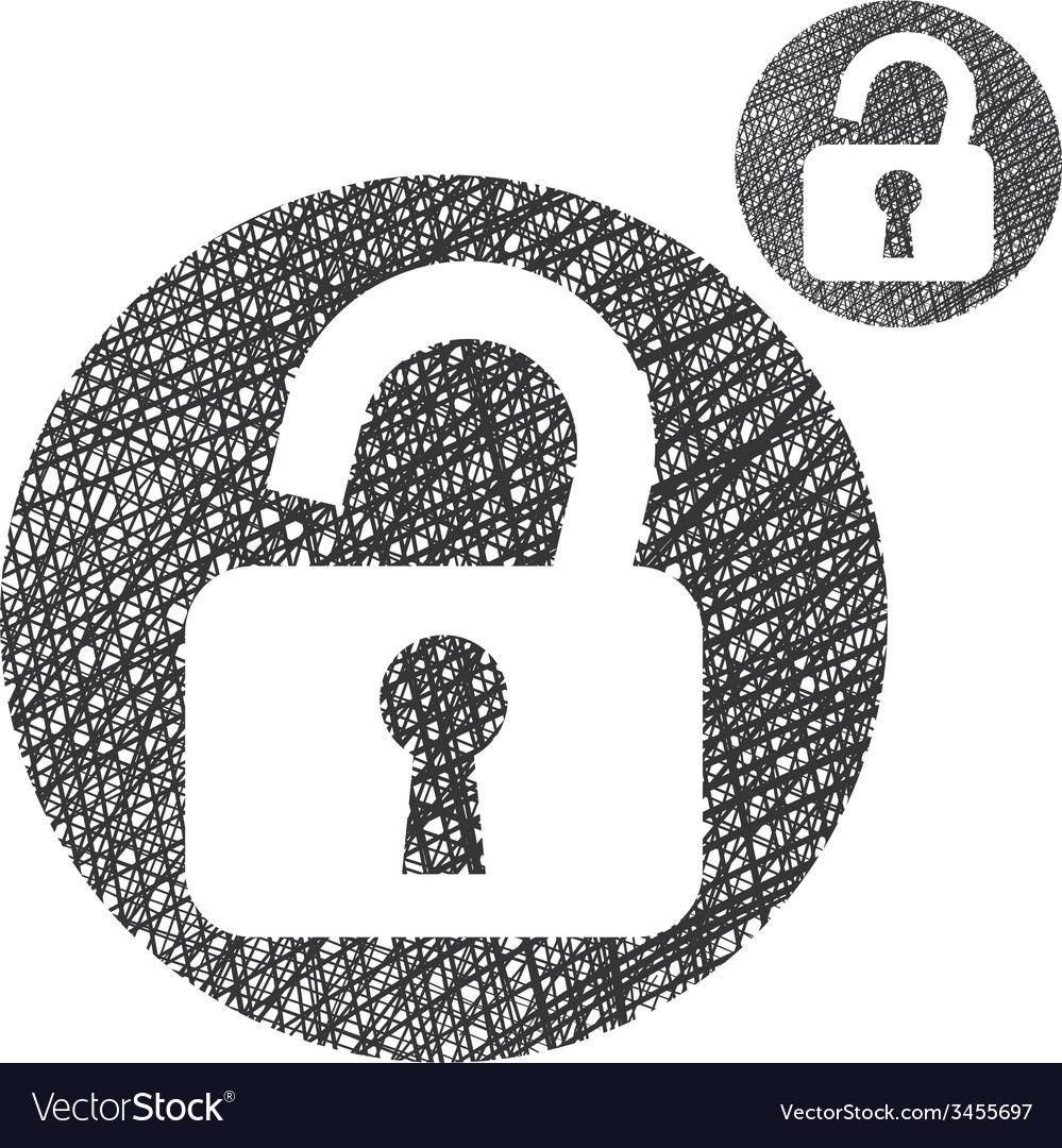 Padlock open lock simple single color icon vector | Price: 1 Credit (USD $1)