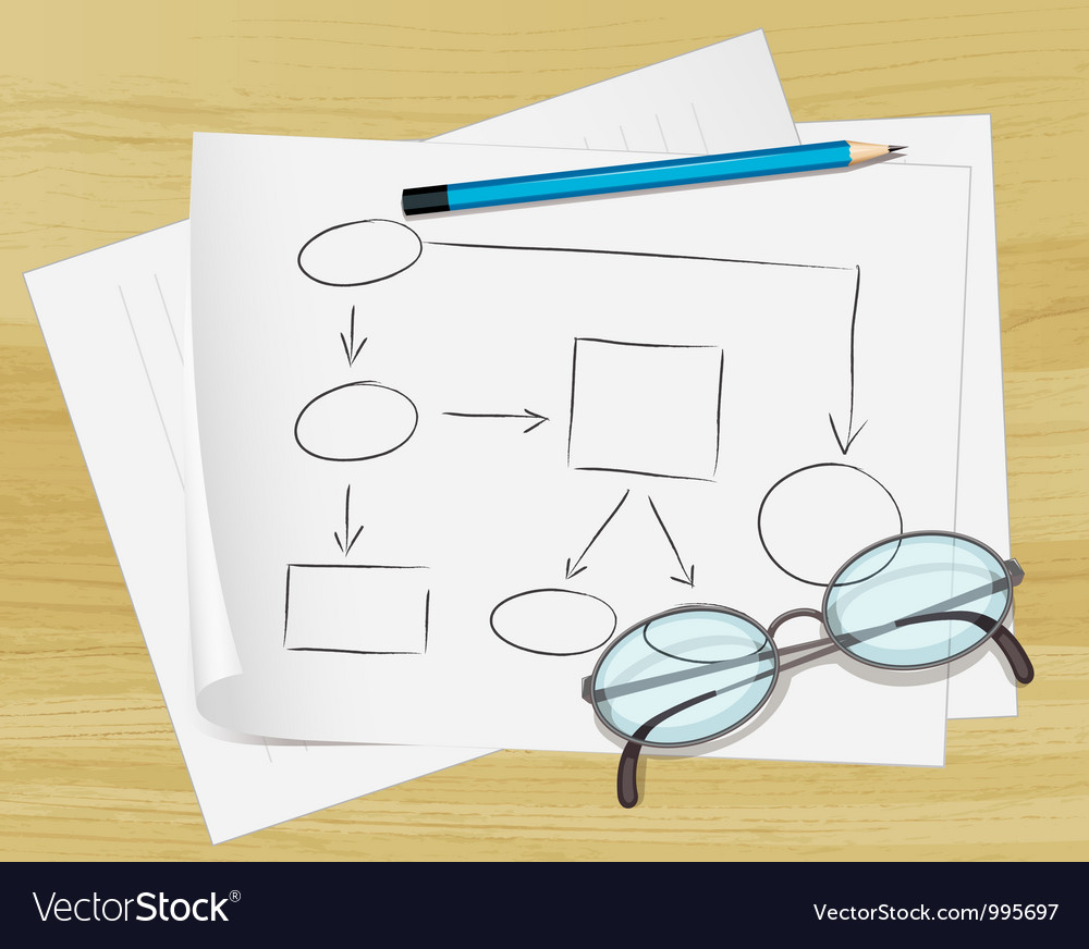 Planning flow chart paper vector | Price: 1 Credit (USD $1)