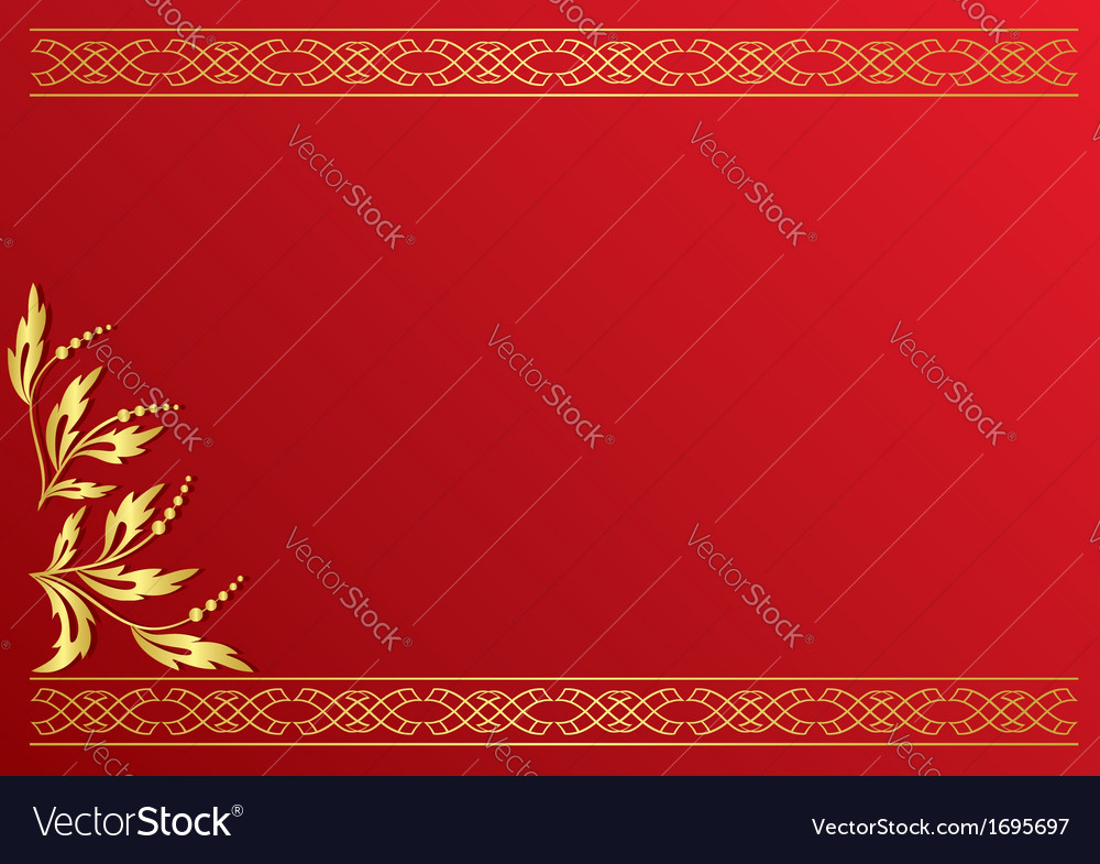 Red card with golden decoration vector   Price: 1 Credit (USD $1)