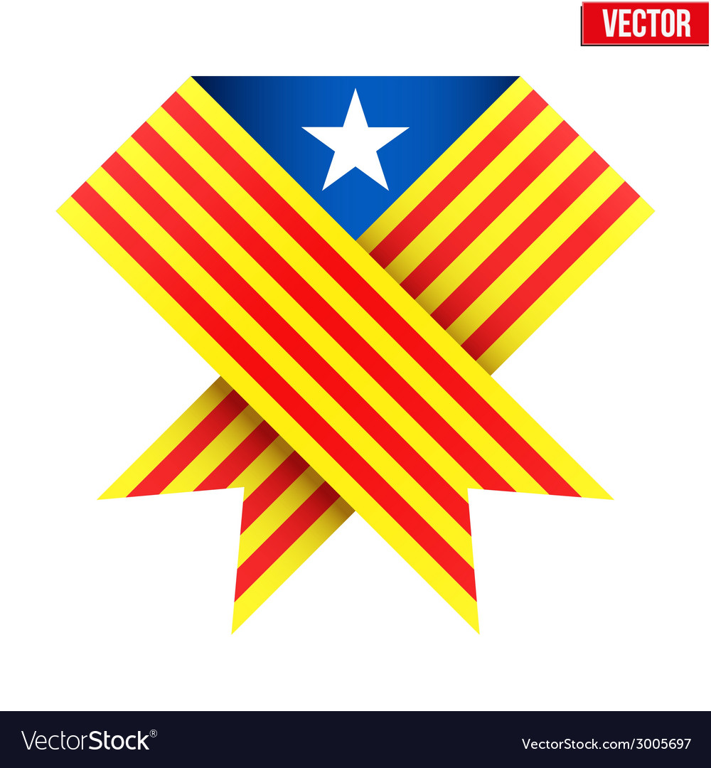Ribbon of independence catalonia vector   Price: 1 Credit (USD $1)