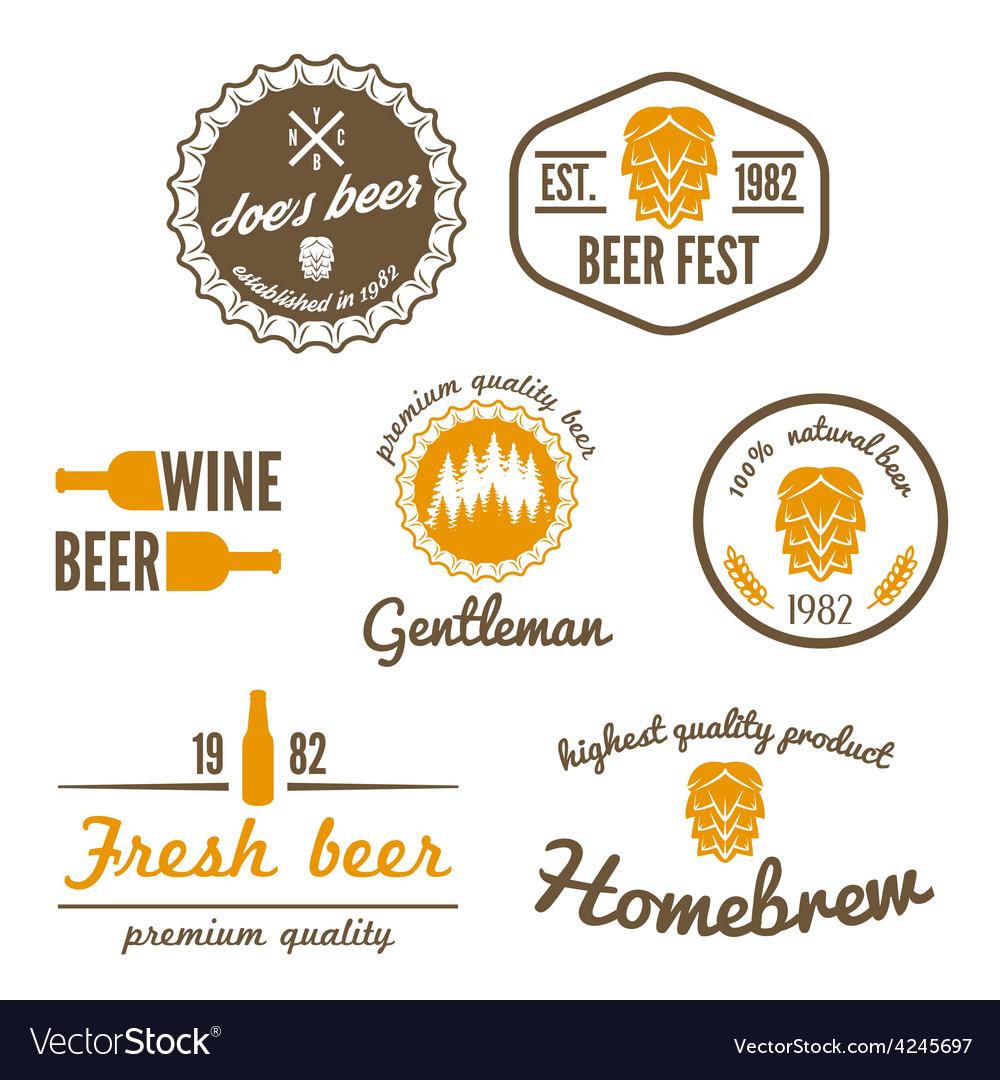 Set of vintage logo badge emblem or logotype vector | Price: 1 Credit (USD $1)