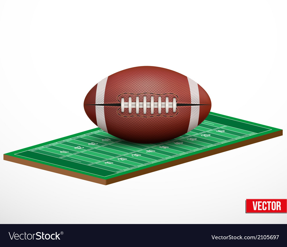 Symbol of a american football game and field vector | Price: 1 Credit (USD $1)