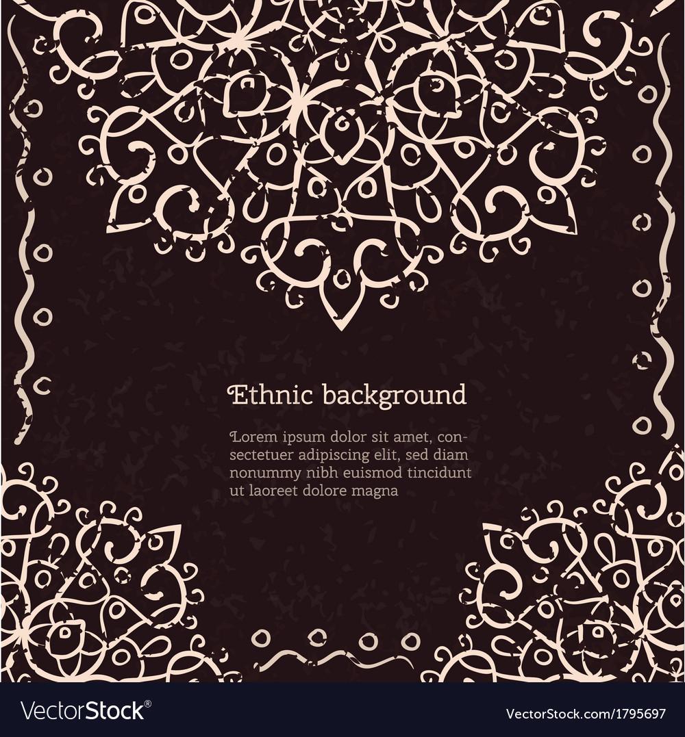 Vintage ethnic background vector | Price: 1 Credit (USD $1)
