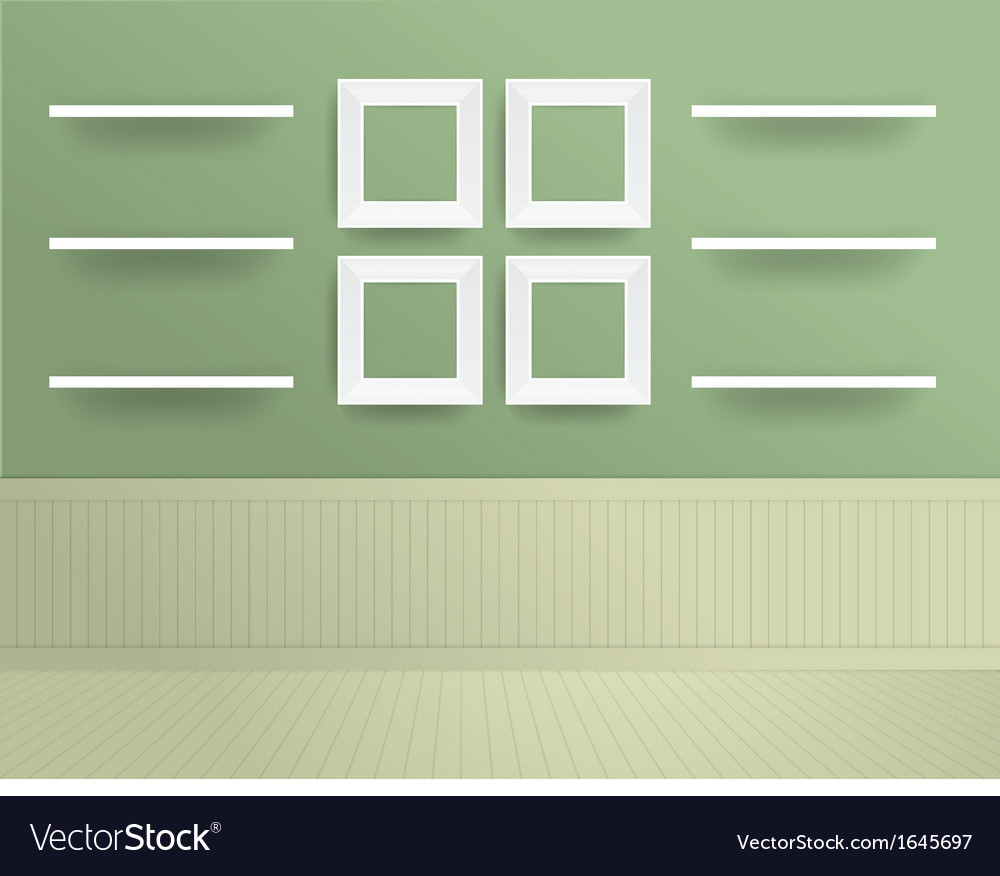 White modern frames on the wall vector | Price: 1 Credit (USD $1)