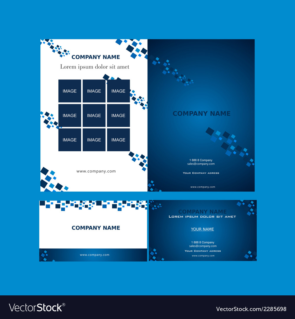 Brochure and business card template vector | Price: 1 Credit (USD $1)