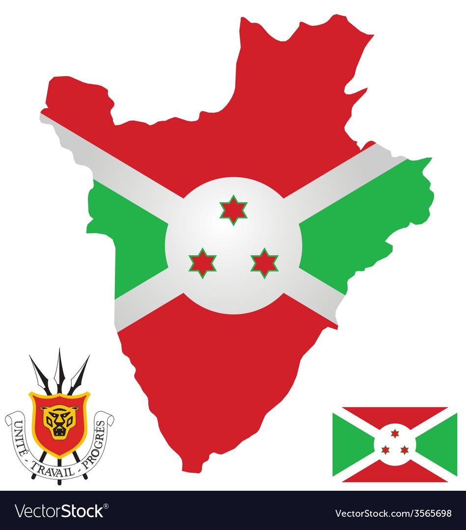 Burundi flag vector | Price: 1 Credit (USD $1)