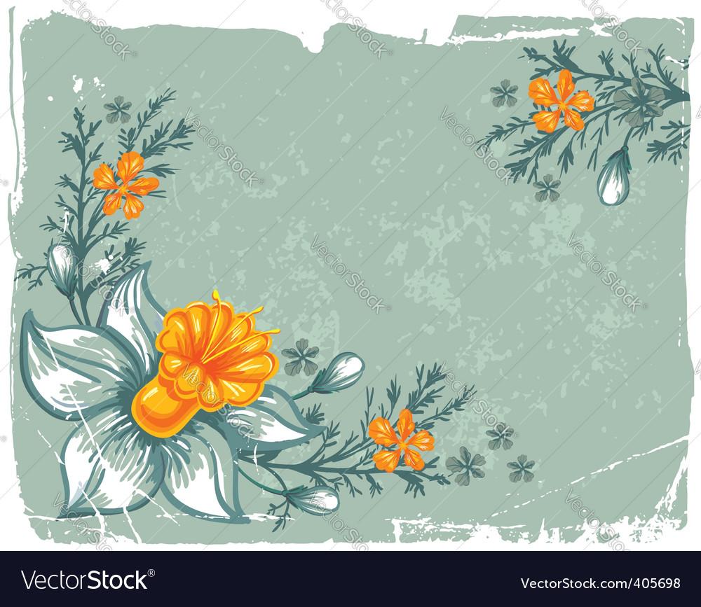 Floral grunge background vector | Price: 1 Credit (USD $1)