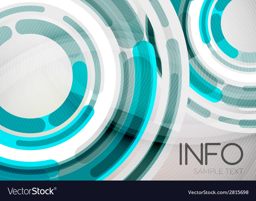 Futuristic rings and circles design template vector   Price: 1 Credit (USD $1)
