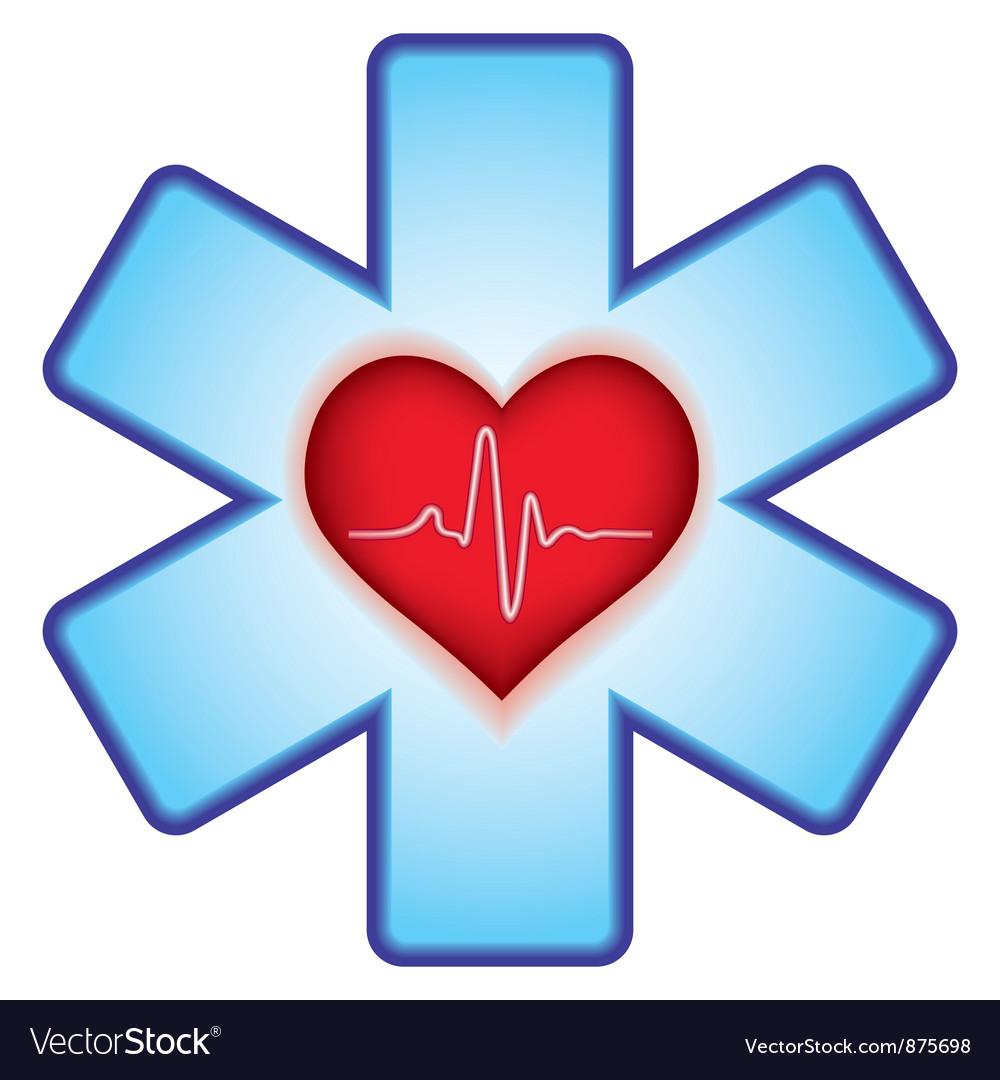 Heart on cross vector | Price: 1 Credit (USD $1)
