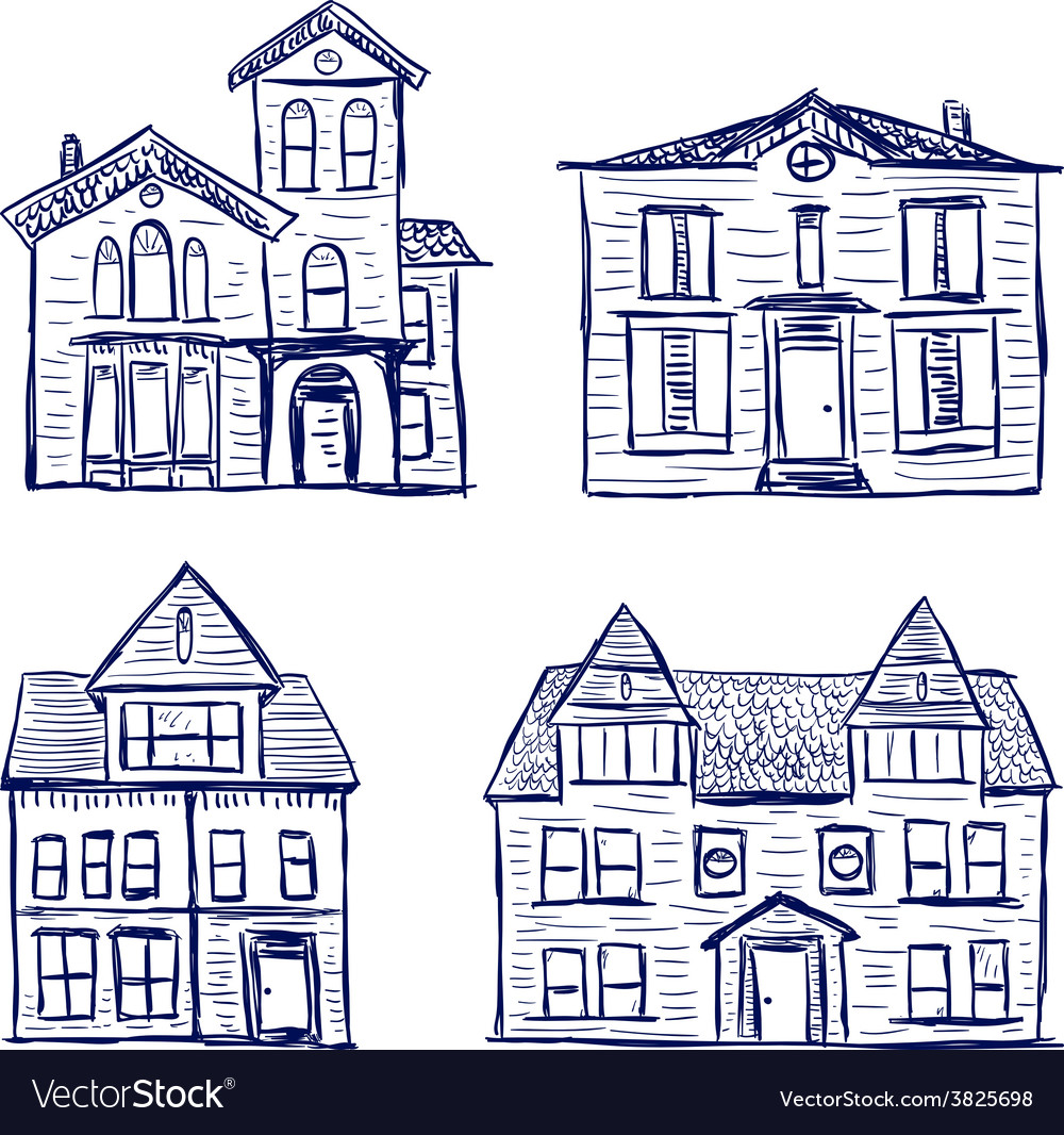 Houses doodles vector   Price: 1 Credit (USD $1)